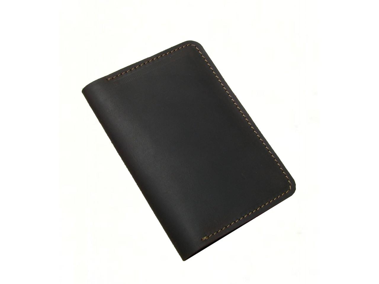 Обложка для паспорта GS кожаная коричневая
