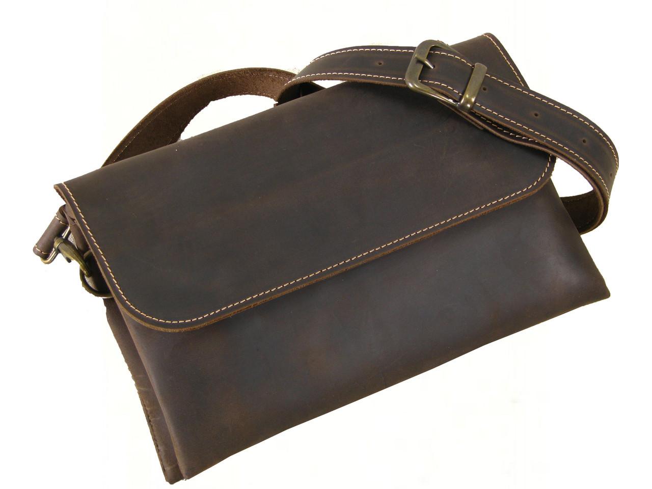 Женская сумка - клатч GS кожаная коричневая