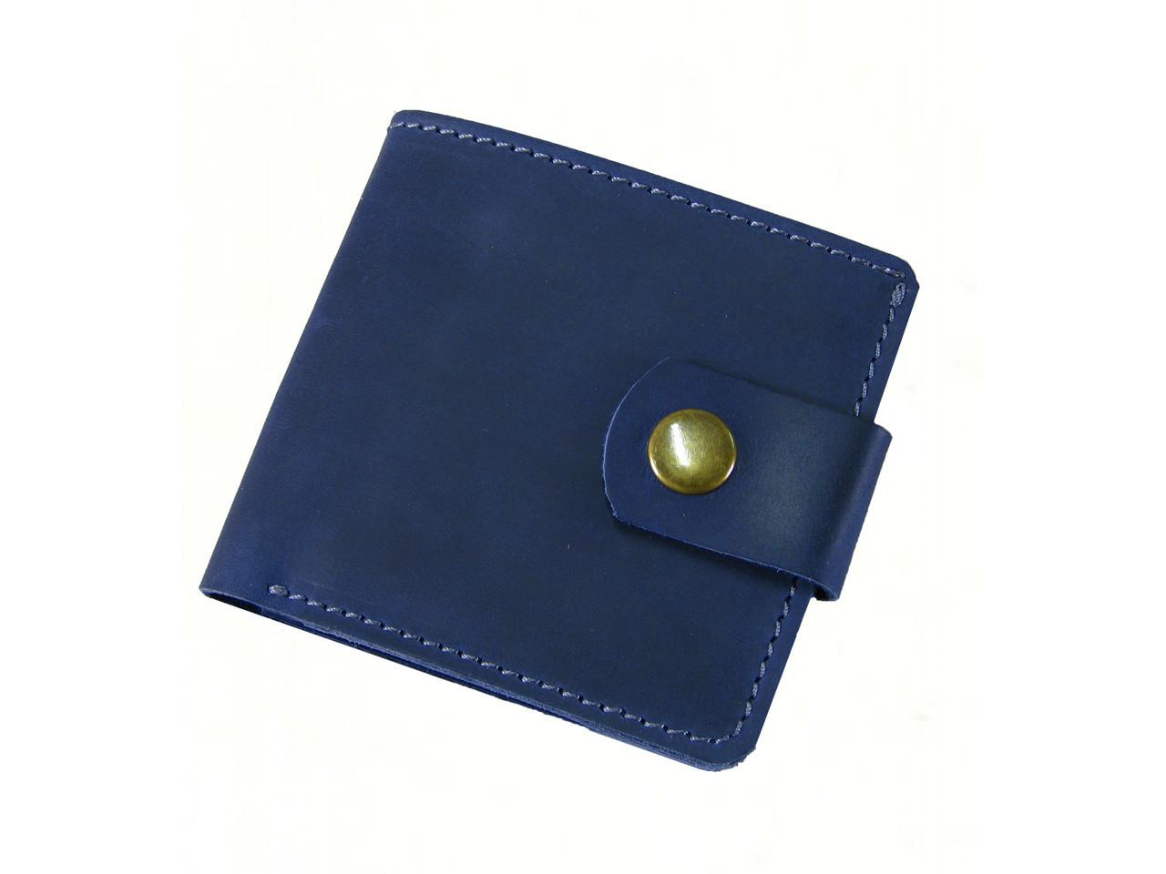 Женский кошелек бумажник GS кожаный синий