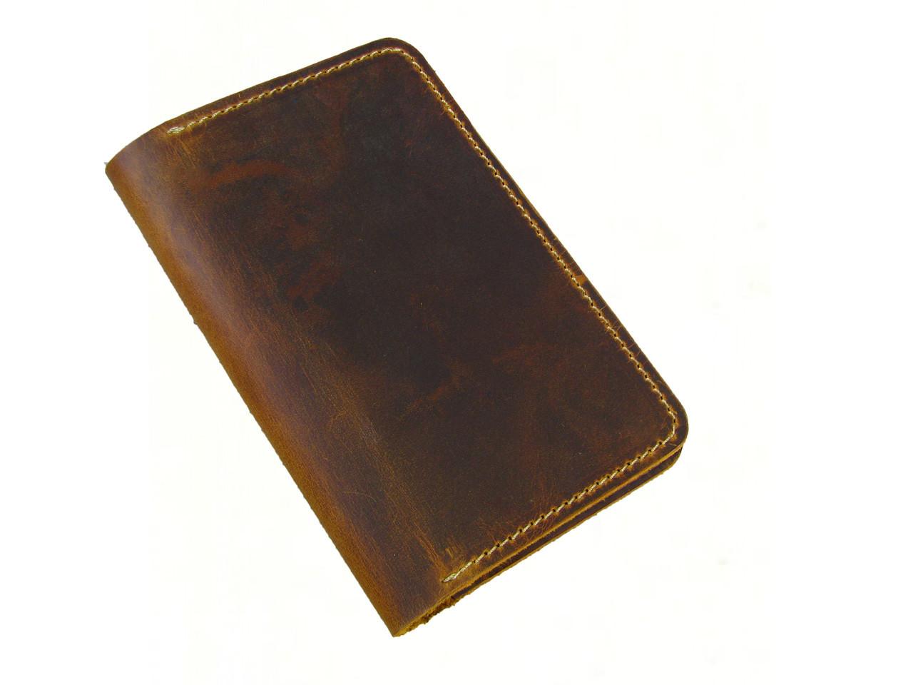 Обложка для паспорта GS кожаная цвет табак