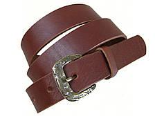 Женский кожаный ремень GS 30мм коньячный