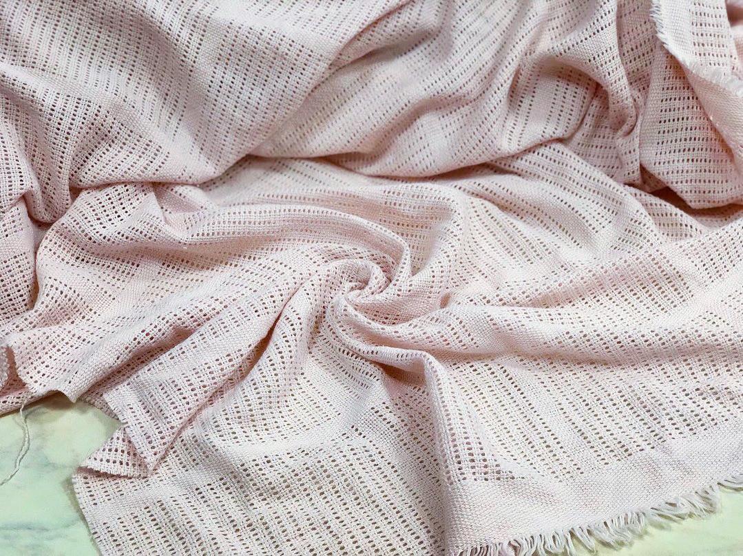 Филейное полотно розовая пудра 240 см (для пледов и покрывал)