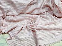Филейное полотно розовая пудра 240 см (для пледов и покрывал), фото 1