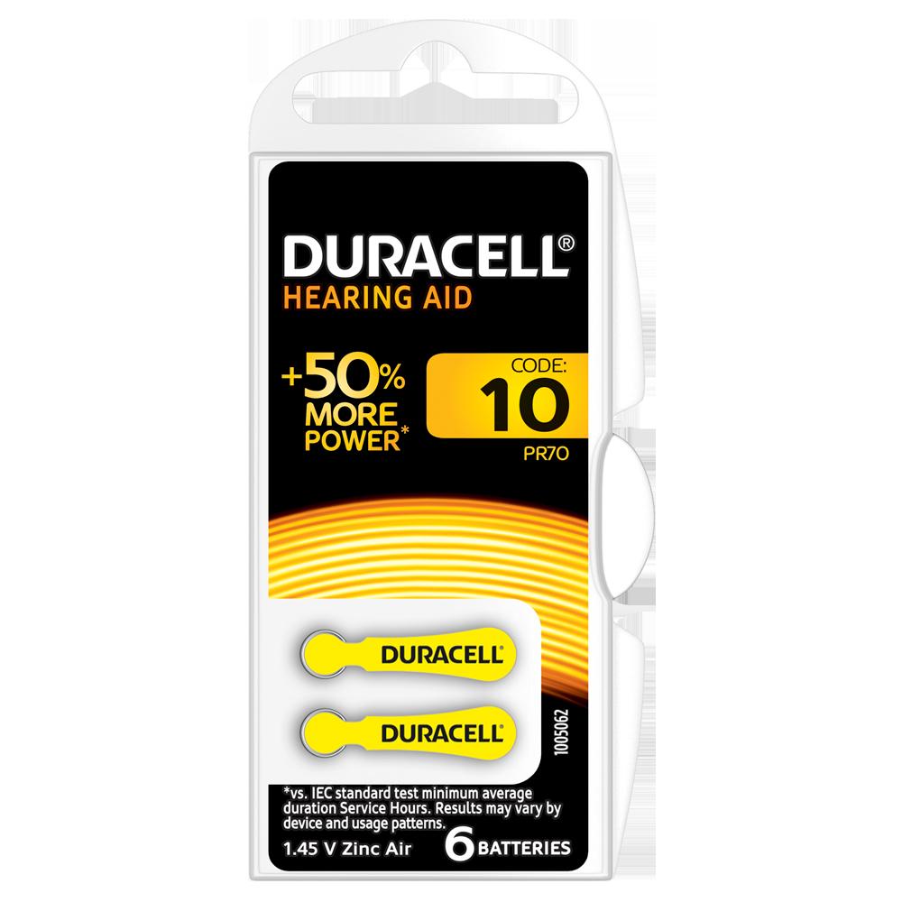 Батарейка DURACELL для слуховых аппаратов– 10