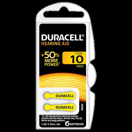 Батарейка DURACELL для слуховых аппаратов– 10, фото 2