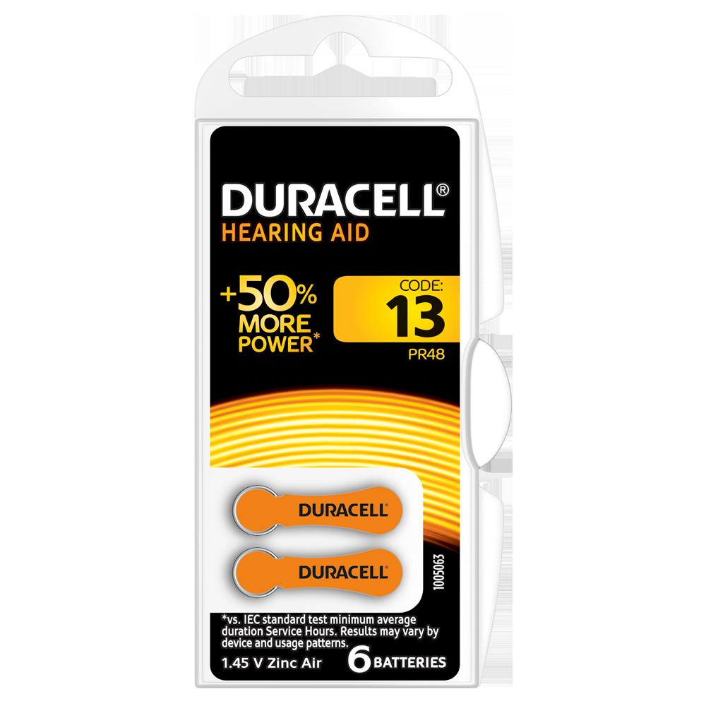 Батарейка DURACELL для слуховых аппаратов-13 уп. 6 шт.