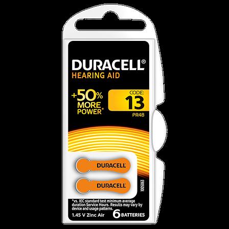 Батарейка DURACELL для слуховых аппаратов-13 уп. 6 шт., фото 2