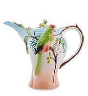 """Фарфоровый заварочный чайник """"Попугай Розелла"""" 1250 мл (Pavone) FM- 79/ 1"""