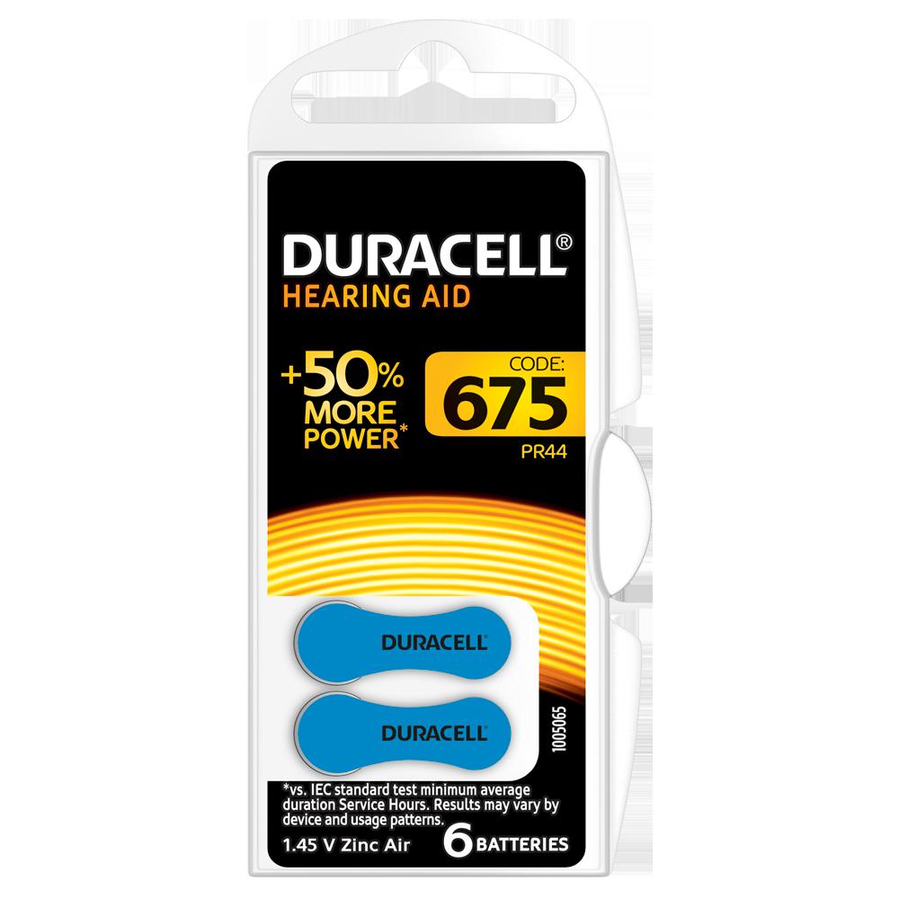 Батарейка DURACELL для слуховых аппаратов-675 уп. 6 шт.