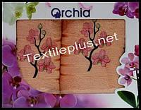 Набор полотенец 2шт. Orchid баня+для лица Турция (kod 4410)