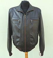 Кожаная мужская куртка TURINtr размер XL, коричневый