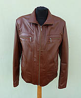 Кожаная мужская куртка TURIN размер M, кофе