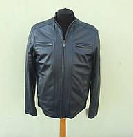 Кожаная мужская куртка BOSTON размер XXL, темно-синий