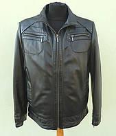 Кожаная мужская куртка POKER размер XXL