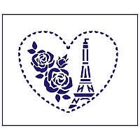 Трафарет Париж 8.5*10 см (TR-1)