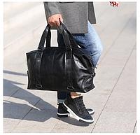 Мужская дорожная сумка. Сумка для поездок. Черная КСД6