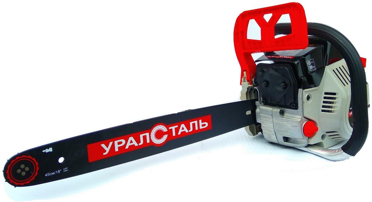 Бензопила Уралсталь УБП-6300 Праймер 2 Шины + 2 Цепи