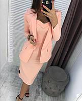 Женское стильное платье с пиджаком