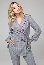 Женский брючный костюм с пиджаком в клетку (Дуэт lzn), фото 3