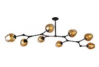 Люстра молекула в стиле ЛОФТ 8 ламп, 756LPR0231-8 BK+BR черный