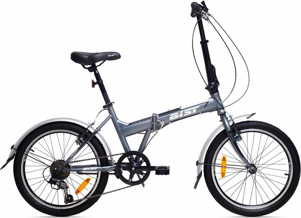 "Складаний Велосипед Aist Compact 1.0 20"" (сірий, 2019) на SHIMANO 7 швидкостей / сталевий"