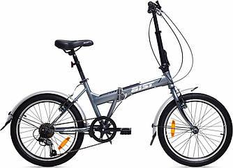 """Велосипед складной AIST Compact 1.0 20"""" (серый, 2019) на SHIMANO 7 скоростей / стальной"""