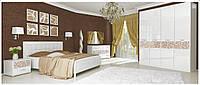 Спальня Флора глянець білий МіроМарк / Спальный гарнитур Flora MiroMark