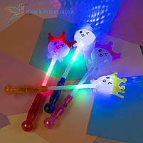 Детские палочки светящиеся Смайлы с короной 40 см, фото 2