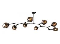 Люстра молекула в стиле ЛОФТ 8 ламп, 756LPR0231-8 BK+BK черный