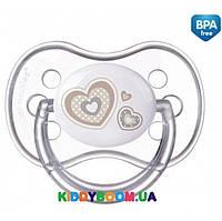 Пустышка силиконовая Canpol симметричная (6-18 мес) Newborn baby 22/581