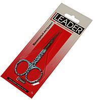Ножницы маникюрные LEADER (для кутикулы) цветные, фото 1