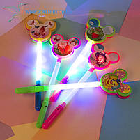 Детские палочки светящиеся с трещоткой 35 см, фото 3