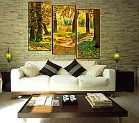 "Панно ""Осенний лес"". Печать фото на холсте."