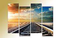 "Модульная картина ""Путь в никуда"". Фотокартина на холсте."