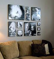 Коллаж из Ваших фото на холсте. Фотоколлаж.