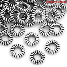 Кольцо закрытое круглое 5 мм античное серебро для рукоделия