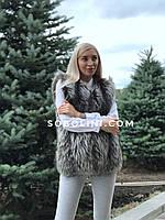 Жилет из меха финской чернобурки, фото 1