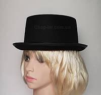 Шляпа Порк-пай, черный полу-цилиндр