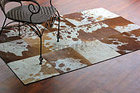 Бежево коричневые ковры шкуры печворк 3х5м, фото 1
