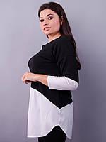 Аника. Стильная кофточка для женщин size plus. Белый.