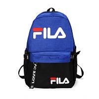 Городской рюкзак Fila синий с черным (реплика)