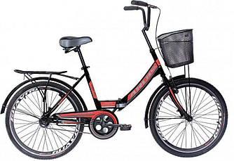 """Велосипед складной ARDIS FOLD с корзиной СК 24"""" Черный"""
