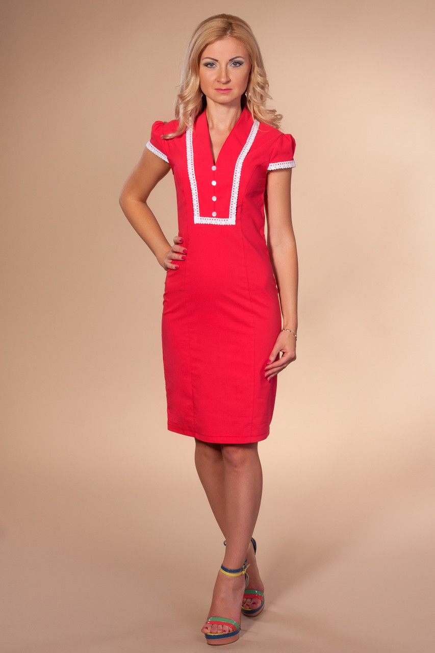 15e54b4053a Летнее офисное платье 867