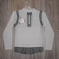 Блузка кофточка молочная и белая для девочки