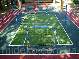 Бесшовное резиновое покрытие для детских площадок