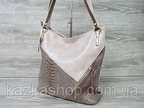 Стильная женская сумка из искусственной кожи на один отдел с длинными ручками, производство Украина