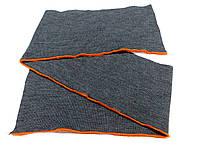 Резинка манжетная двойная с перегибом 16 см (т. серый меланж) (арт. 2033)