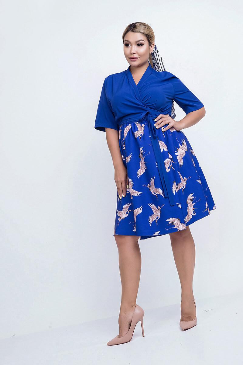 Женское летнее платье птицы р.48-60