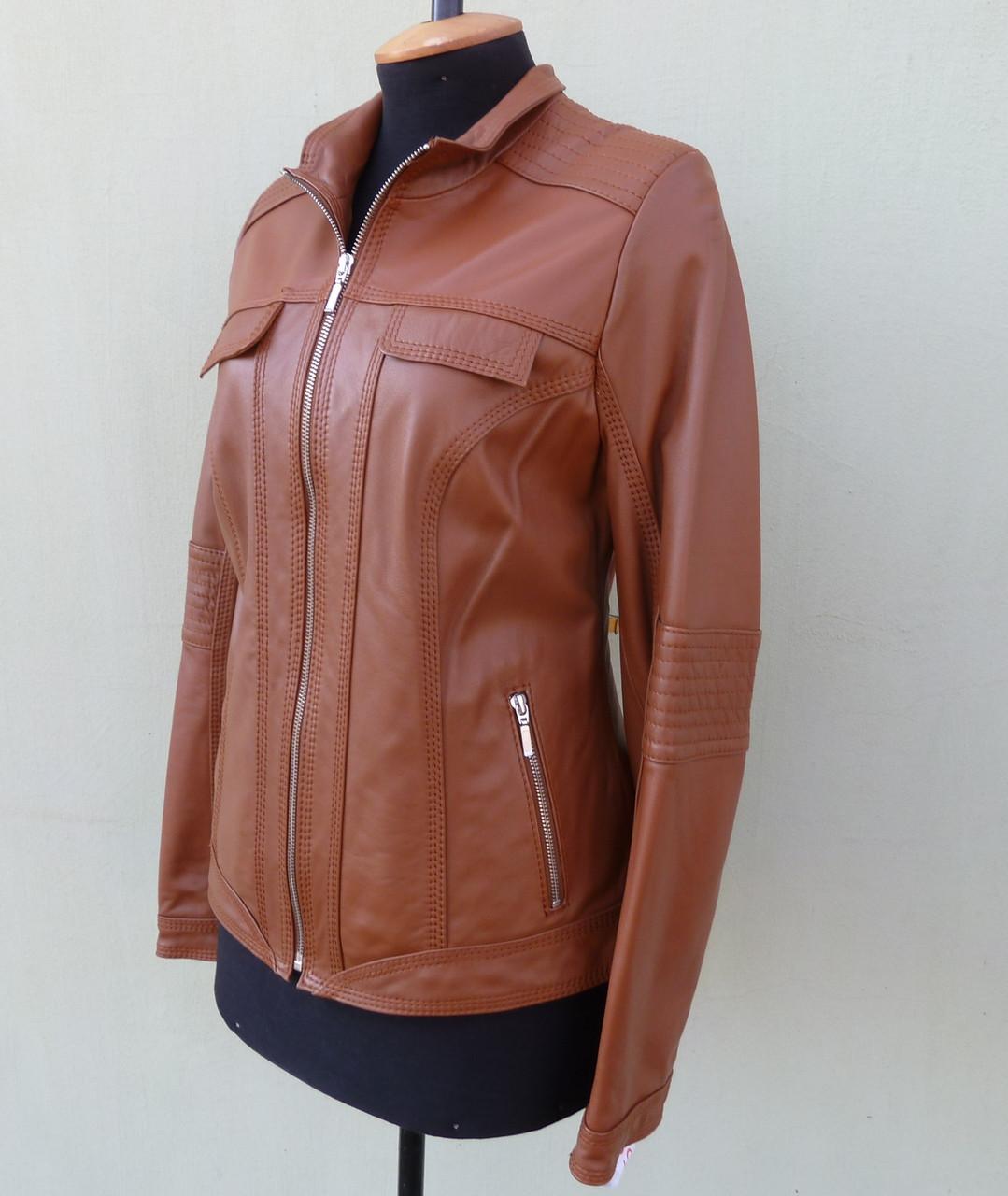 Куртка кожаная женская FESTA  размер XS, виски