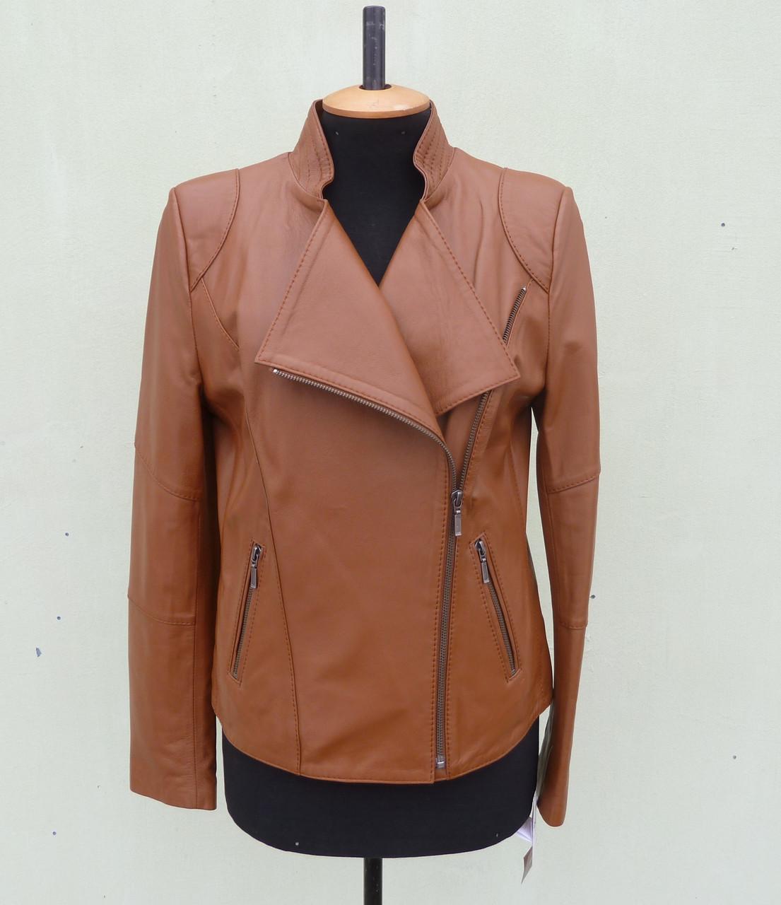 Куртка косуха кожаная женская RAPIRA виски, размер S